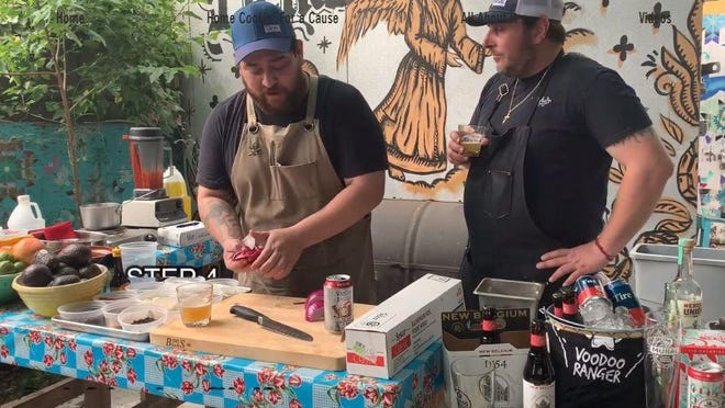 Licha's Cantina chef Daniel Brooks, right, is one of more than half a dozen Austin chefs who are teaching cooking classes this summer in New Belgium's Home Cookin' for a Cause series.