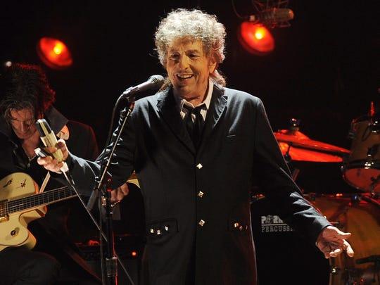 Bob Dylan, shown in 2012.