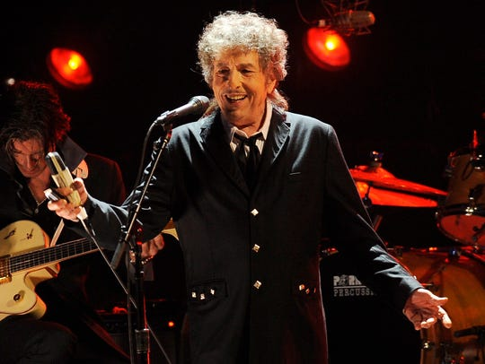 Bob Dylan performs in Los Angeles in 2012.