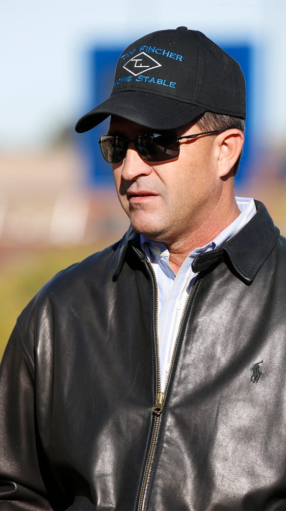 Todd Fincher horse trainer at Sunland Park Racetrack
