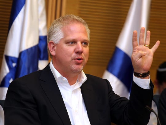 Conservative pundit Glenn Beck on July 11, 2011 at the Knesset in Jerusalem