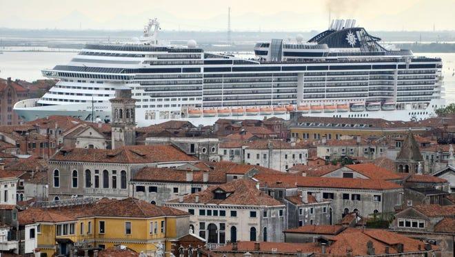 The MSC Preziosa in Venice, Italy, on April 5, 2014.
