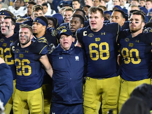 NCAA Football: Navy at Notre Dame
