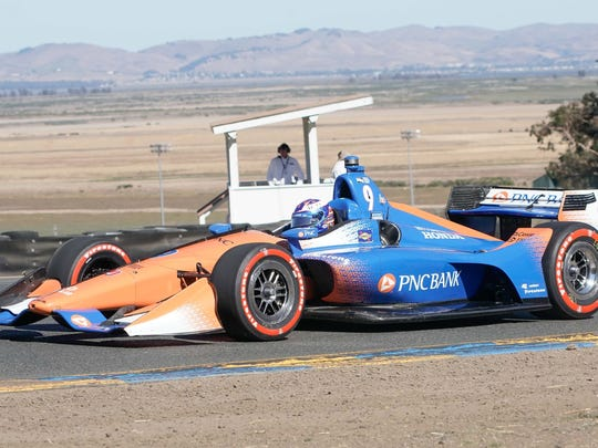 IndyCar driver Scott Dixon (9) during the Grand Prix