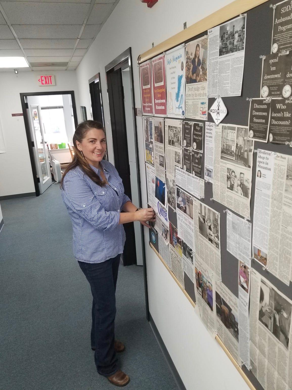 Nikki Narduzzi works part-time at Staunton Downtown
