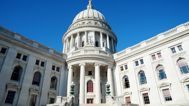 The Wisconsin State Capitol building in Madison.