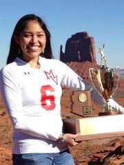 Nekiyah Draper, from Monument Valley High School, is