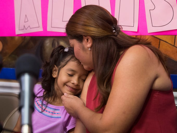 Alisson Ximena Valencia Madrid, 6, the voice of detained