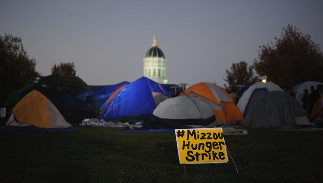 Protest at the University of Missouri on Nov. 9, 2015.