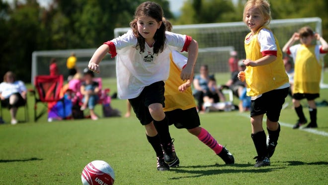 The city is planning to replace the artificial turf at the John B. Lewis Soccer Complex.