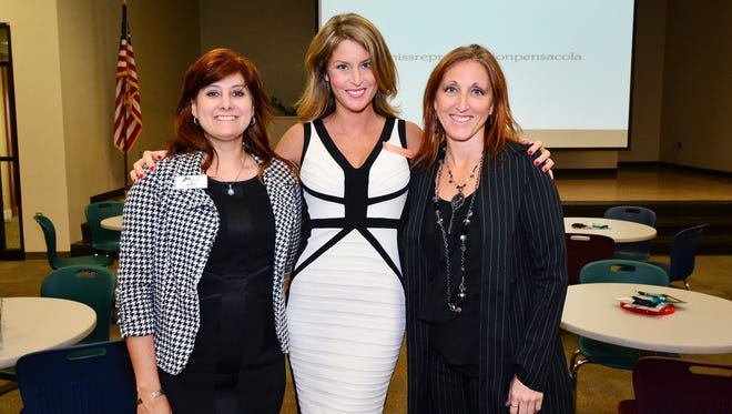 Kolleen Chelsey, Theresa Cserep and Jennifer Harrison at the screening of Miss Representation, presented by the Powerful Women of the Gulf Coast and the Junior League of Pensacola.