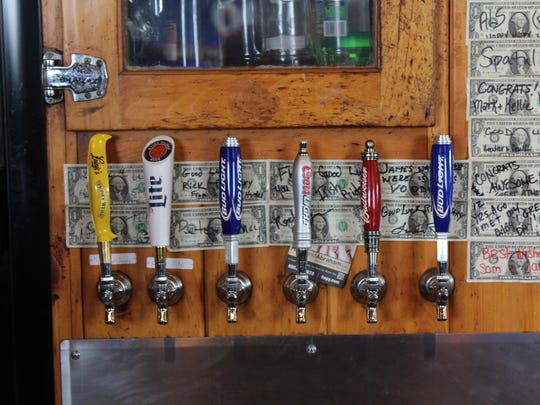 The M & R Station has five beers on tap.