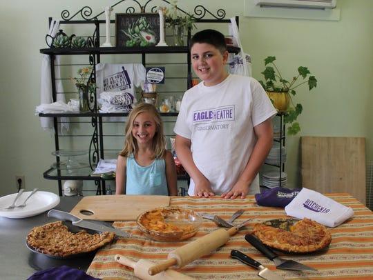 Ben Silvesti, 12, who was a judge for the peach pie