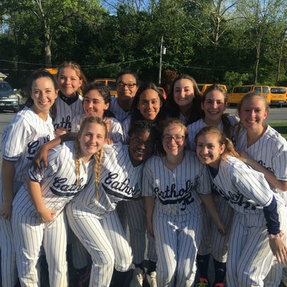 The Lebanon Catholic softball team was all smiles after