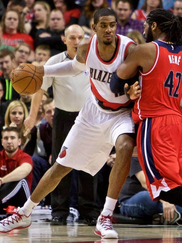 LaMarcus Aldridge returned to the Blazers' lineup with
