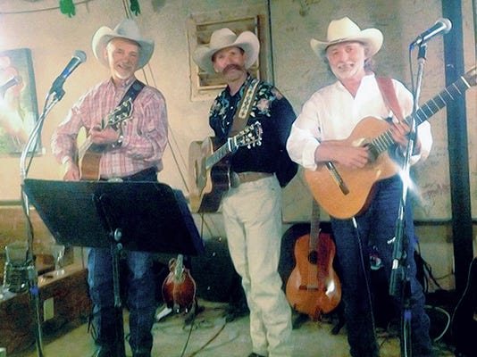 Submitted Photo   The Cowboy Way trio will perform in concert from 2 to 4 p.m., Saturday, at the historic Morgan Hall stage, 109 E. Pine St. Brought to you by the Deming Performing Arts Theater.