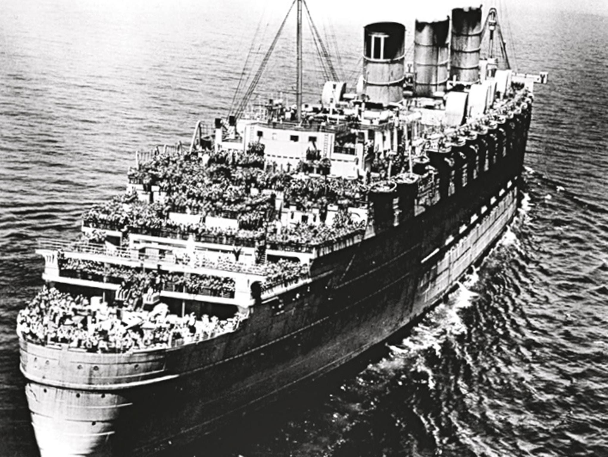 Hitler offered the Iron Cross and a $250,000 reward to the U-boat captain that could sink either of the Queens. Fortunately, that reward would go unclaimed, although the Queen Mary did have a tragic mishap when it rammed and sank the cruiser HMS Curacao off the coast of Ireland with a loss of 338 lives.