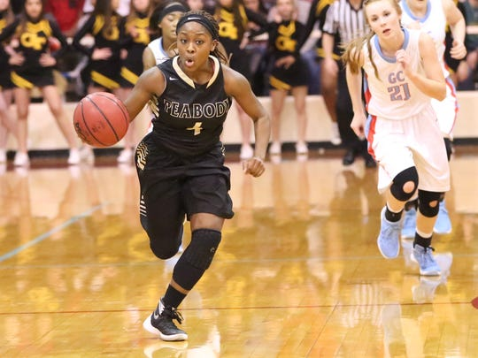 Peabody's Maya Anderson averaged eight points, five