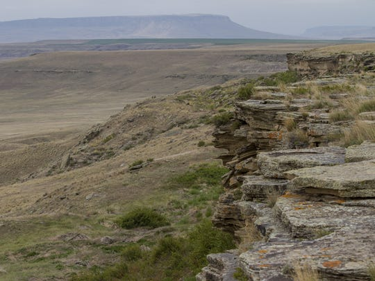 The First Peoples Buffalo Jump north of Ulm is one