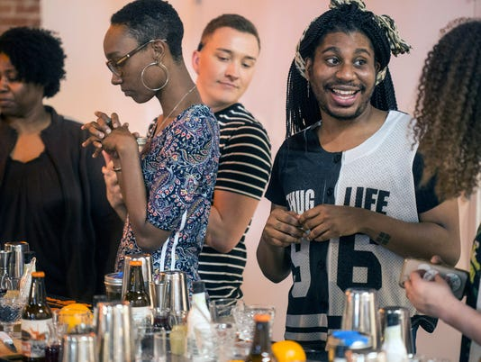 Students in the Ideal Bartending School at Copper & Kings
