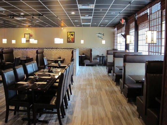 The newly remodeled dining room at Hibachi of Japan, which recently replaced Blue Fish Japanese Steakhouse in Bed Bath & Beyond Plaza in North Naples.