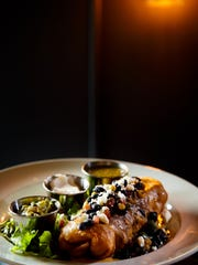The chicken chimichanga at Gilroy's Kitchen + Pub +
