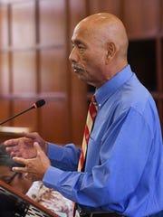 Speaker Benjamin J.F. Cruz during session at the Guam Congress Building on June 27, 2017.