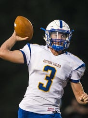 Northern Lebanon' quarterback Michigan Daub leads the