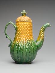 "Pineapple Coffeepot,"" c. 1750, England (Staffordshire),"