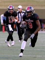 Wichita Falls High's Marcus King (9) rushes the ball