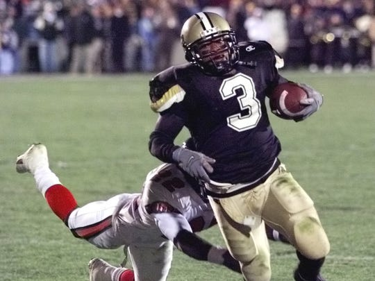 Montrell Lowe eludes an Indiana tackler during Purdue's
