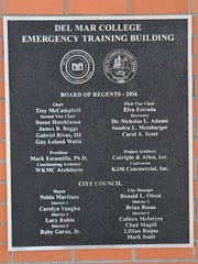 The official plaque for Del Mar College's new Emergency Training Building hangs on the wall opposite the entryway to the new facility and signifies the partnership between Del Mar College and the city of Corpus Christi.