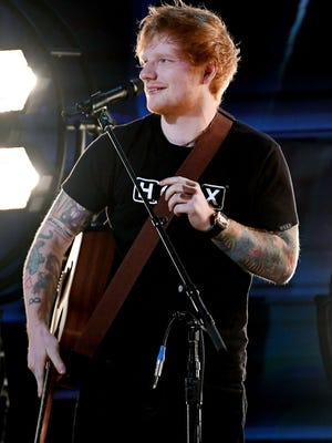 Ed Sheeran performs onstage during The 59th GRAMMY Awards at STAPLES Center on February 12, 2017 in Los Angeles, California.  (Photo by Kevork Djansezian/Getty Images) ORG XMIT: 695236579 ORIG FILE ID: 634983148