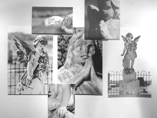 A collection of angels by Martha Kiel on exhibit in 1993 at The Center for Contemporary Arts.