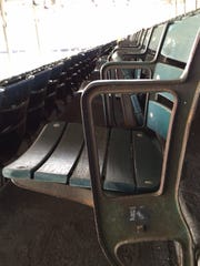 Crosley Field seats at the Butler County Fairgrounds