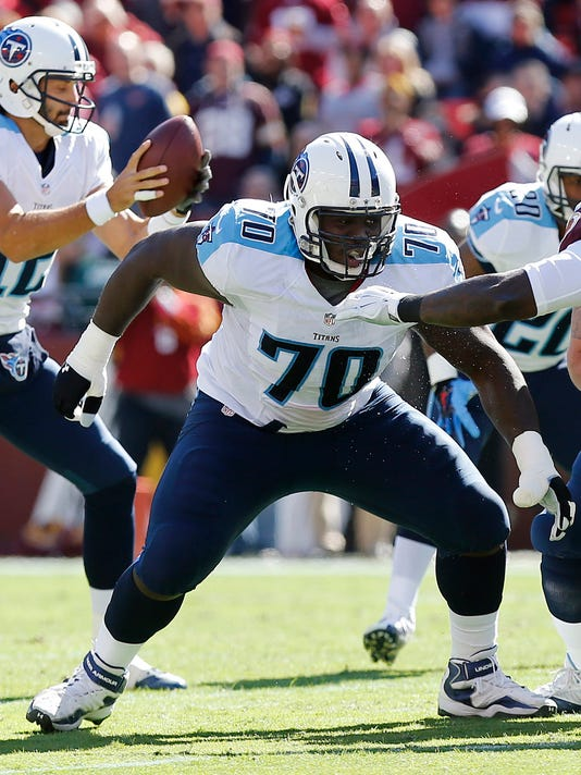 b34ef6d0018 NFL  Tennessee Titans at Washington Redskins. Titans guard Chance Warmack  ...