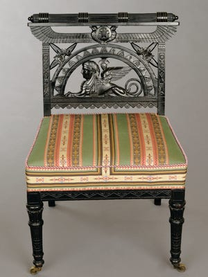 Design and manufacture attributed to Pottier & Stymus and Company (est. 1859), New York City, Egyptian Revival Side Chair, ca. 1875
