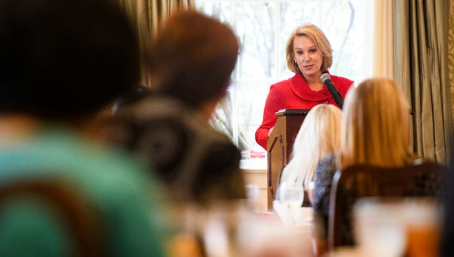 Republican governor's candidate Catherine Templeton speaks at a Upstate Republican Women event at the Poinsett Club on Tuesday, Feb. 20, 2018.