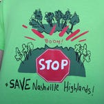More than 150 residents and preservationists attended a July 2015 Metro Planning Commission meeting to support saving the Nashville Highlands.