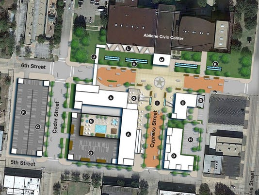 Abilene downtown hotel map