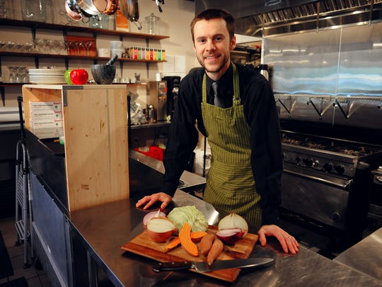 As executive chef, Nate Rafn manages the kitchen, does the bulk of the cooking and creates the menu.