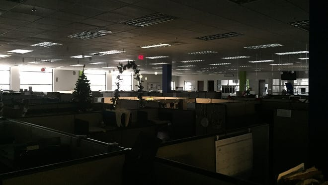 The Clarion-Ledger newsroom was in the dark briefly Wednesday morning.