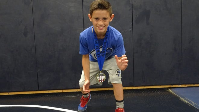 James Lindsay, a Granville fifth-grader, recently won his weight class during the NUWAY Summer Nationals in Atlantic City, N.J.
