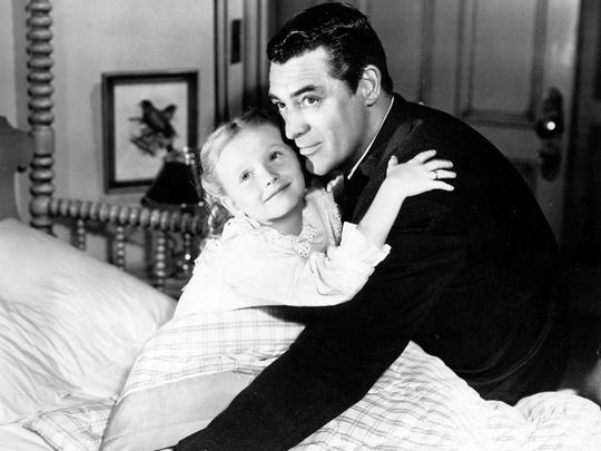 Cary Grant and Karolyn Grimes in 'The-Bishop's Wife'.