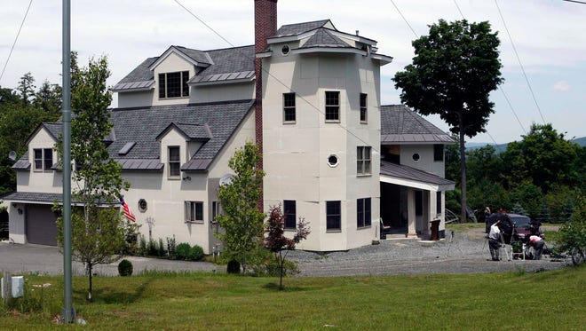 A 2007 photo shows the home of Ed and Elaine Brown in Plainfield, N.H.