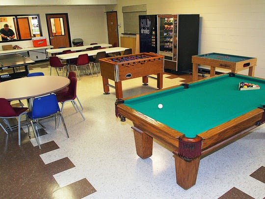 The game room offers pool, ping pong and foosball games.