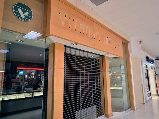 A file photo of an empty storefront at Chambersburg Mall.