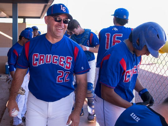 Las Cruces High baseball coach Gil Padilla has won over 300 ballgames at LCHS.