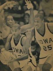 Roy Marble, left, and Ed Horton were key components of some incredible Iowa teams in the mid- to late-1980s. The 1986-87 squad nearly made it to the Final Four.