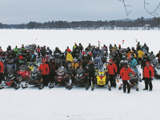 The riders at the 2015 MS Snowmobile Tour.